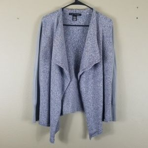 89th & Madison Open Front Knit Cardigan Sweater M